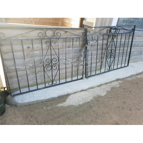6 - pair black entrance gates...