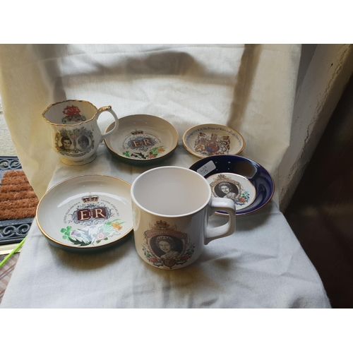 15 - 6 royal plates and cups...