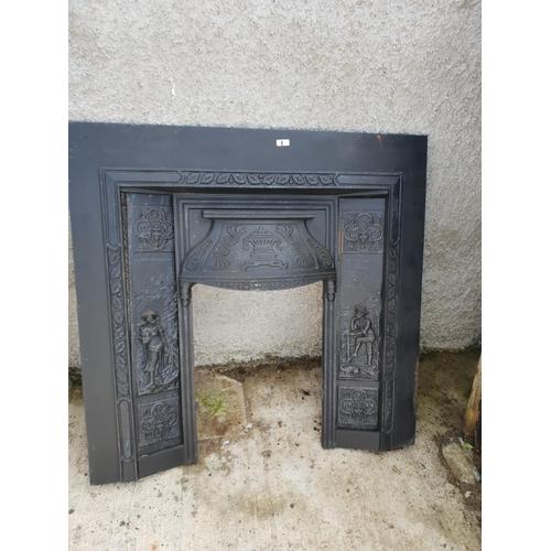 1 - Cast fire place...