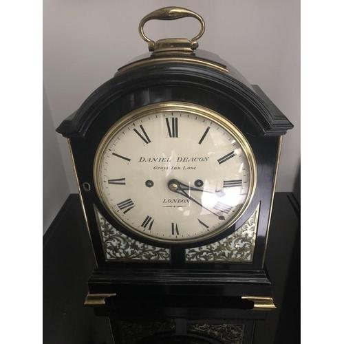 Bracket clock, Daniel Deacon Grays Inn Lane, London 34cms h.