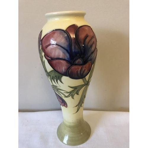 15 - Moorcroft vase printed marked to base. 28cms h....