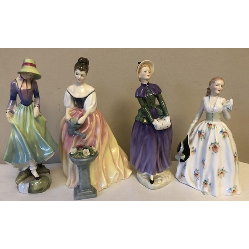 29 - Four Royal Doulton figures, Polly HN 3178, Alexandra HN 3286, Florence HN 2745, Carolyn HN2112....