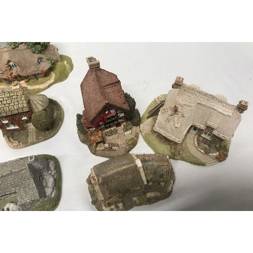 31 - Collection of 17 Lilliput Lane cottages including St Mary's Church....