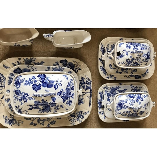 33 - A collection of late Wedgwood Fruits H&K C1890, Hollinshead & Kirkham Ltd to include 12 large plates...
