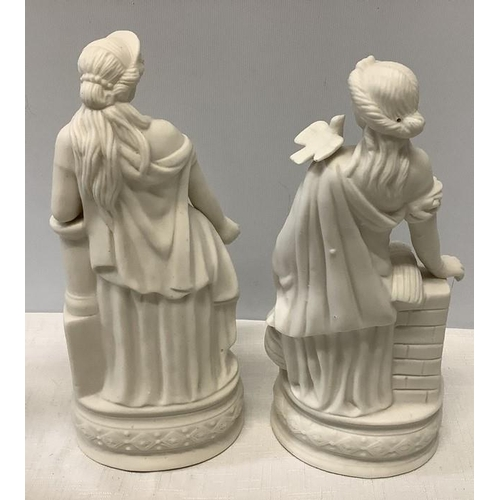 4 - Two Parian figures of females. 26cms h....