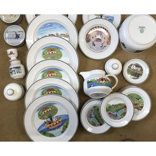 40 - Villeroy and Boch Design Naif pattern tea and dinner ware, 40 pieces plus Villeroy and Boch Luxembou...