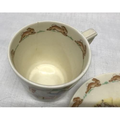 46 - Royal Doulton Bunnykins cup and saucer with mug....