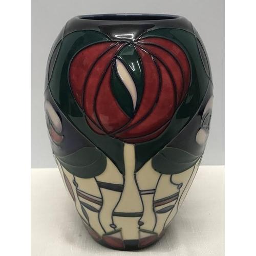 48 - Moorcroft pottery vase, 18cms h. Macintosh pattern, printed mark to the base....