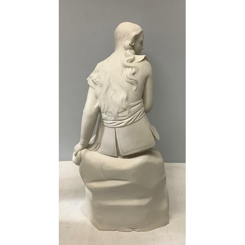 5 - A Parian figure of Dorothea designed by John Bell with a relief moulded Victorian registration lozen...