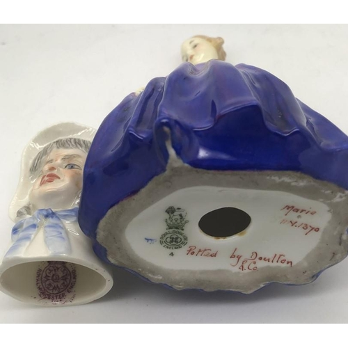 50 - Royal Worcester candle snuffer, Mrs Caudle with Royal Doulton Marie HN1370....