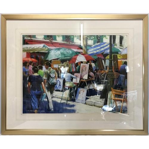 1374 - Anthony Orme original pastel of Paris, signed L.L. 47.5 x 63.5cms.