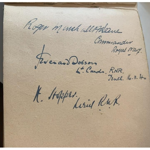 759 - A mid 20thC autograph book collected by Joan Richardson AKA Joan Peters, singer and actress, signed ...