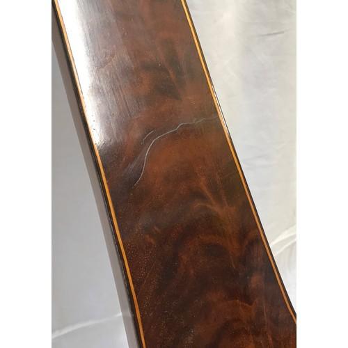 936 - A fine quality 18thC single dial mercuried mahogany barometer by J.Pastorelli London. 95cms h x 27cm...