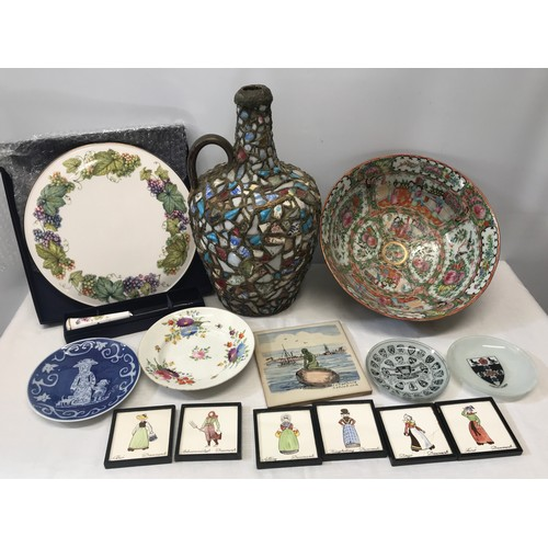 8 - A pottery selection to include Royal Doulton Toby