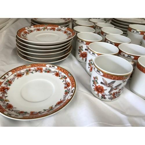 10 - Vista Alegre Portugal tea and coffee service, 63 pieces in total to include tea and coffee pot, milk...