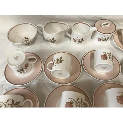 14 - A Susie Cooper Talisman part tea and coffee set comprising of 34 pieces : 2 cream jugs, sugar bowl, ...