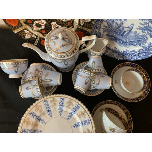 50 - Ceramics to include Duchess china coffee service, early 19thC tea bowls and saucers, 6 Worcester Cha...
