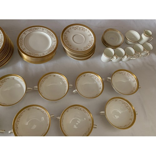 52 - A large quantity of Royal Doulton Belmont pattern dinner service with a part Crescent coffee service...