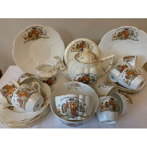 56 - A Foley China commemorative tea service, 'Longest and Most Glorious Reign' of Queen Victoria 60 year...