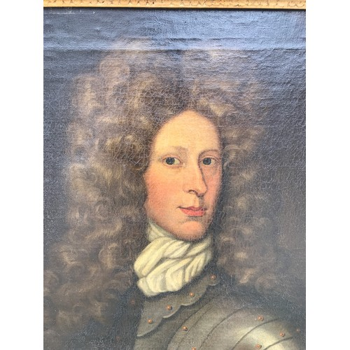 1268 - Oil on canvas, portrait of a cavalier. 74 x 61cms.