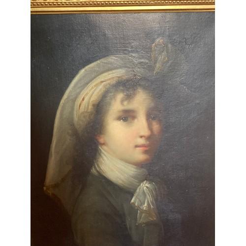 1350 - A fine quality portrait of Élisabeth Vigée Le Brun (1755-1842) from 1788 to 1818 Le Brun painted 37 ...