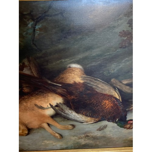 1351 - STEPHEN TAYLOR A very fine painting of still life dead game. Painted for the exhibition at Summerset...