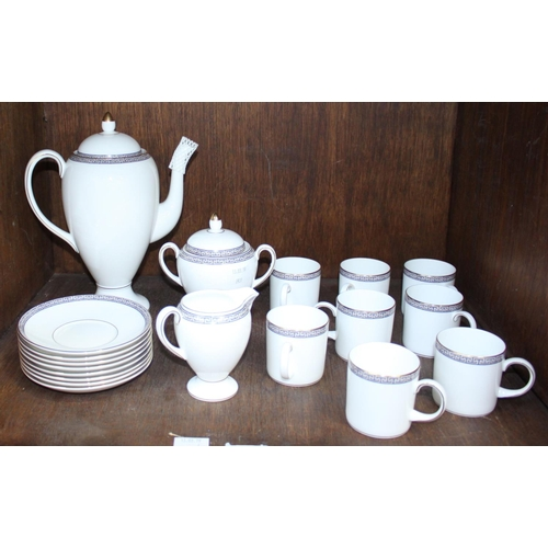 33 - SECTION 33. A 19-piece Wedgwood 'Palatia' pattern part coffee service comprising coffee cans, a coff...