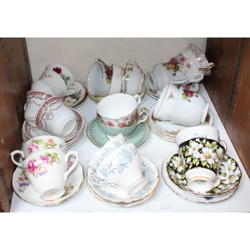 28 - SECTION 28.  A quantity of teacups and saucers including Royal Albert etc....