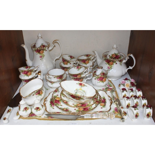 10 - SECTION 10 & 11.  An extensive Royal Albert 'Old Country Roses' pattern tea & dinner service, mostly...