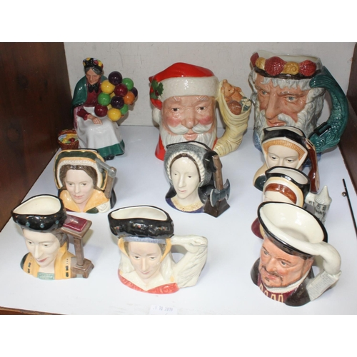 18 - SECTION 18.  Seven medium character jugs Henry VIII and his six wives D6647 together with a large Ro...