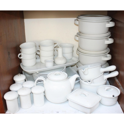 19 - SECTIONS 19 & 20. An extensive dinner and coffee service in plain white by Thomas of Germany...
