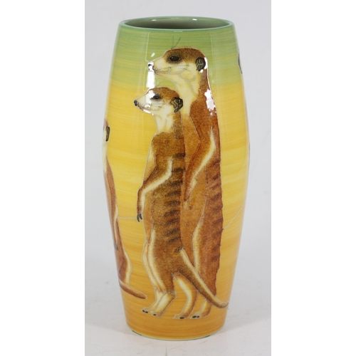 50 - A Sally Tuffin for Dennis China Works vase in the 'Illyria Out of Africa' pattern, decorated with me...