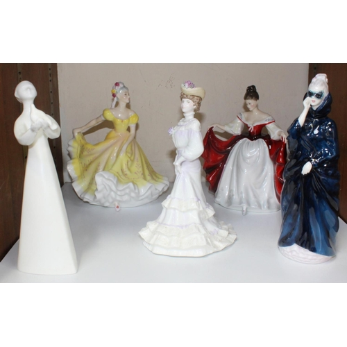 57 - A collection of four assorted Royal Doulton ladies including 'Peace HN2470' and 'Masque HN2554' etc....