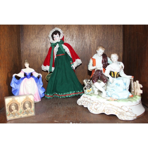 33 - SECTION 33. A Royal Doulton figure of a lady 'Sara HN3308' and a Royal Doulton 'Nisbet' Christmas do...