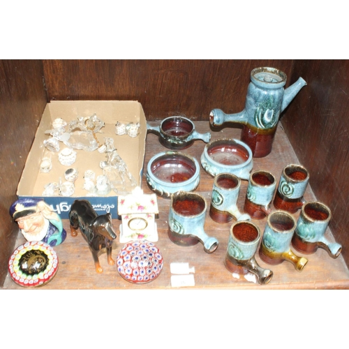 36 - SECTION 36.  A Royal Albert 'Old Country Roses' small clock, Doulton small character jug 'Old Salt,'...
