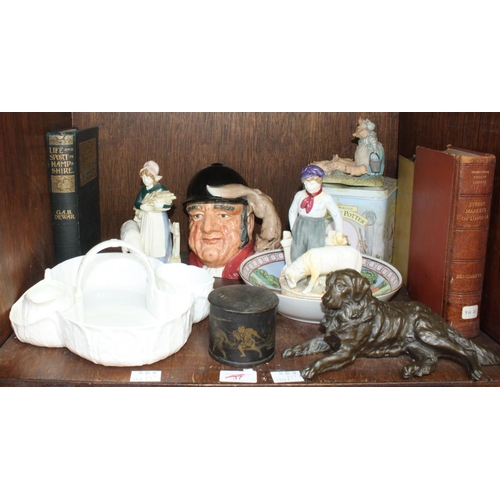 37 - SECTION 37. A collection of assorted ceramics and collectables including a Royal Doulton character j...