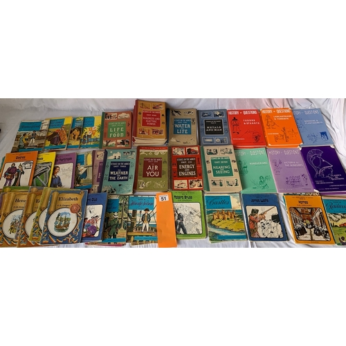 51 - Large quantity of 1960s and 1970s Vintage Childrens history books