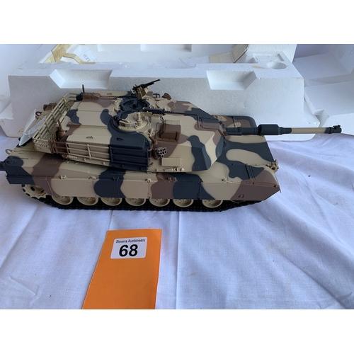 68 - Franklin Mint Boxed M1A1 Abrams Tank 1:24 Scale