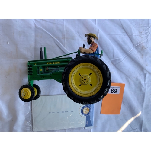 69 - Franklin Mint John Deer Model B Tractor
