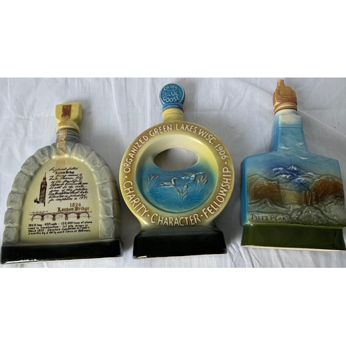 72 - 3 1970s American Jim Beam commemorative decanters