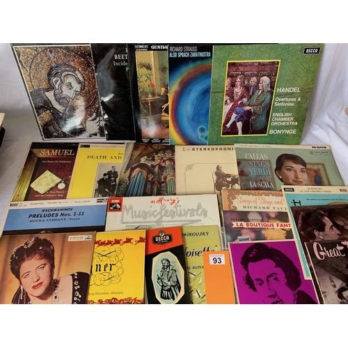 93 - Large quantity of Classical LPs