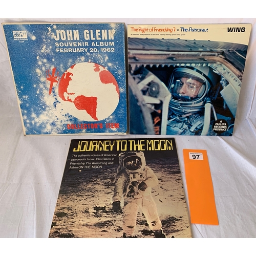 97 - Rare vintage LPs relating to Space exploration