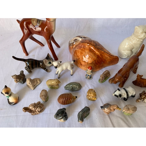 119 - Collection of ceramic animals inc. Wade Whimsies