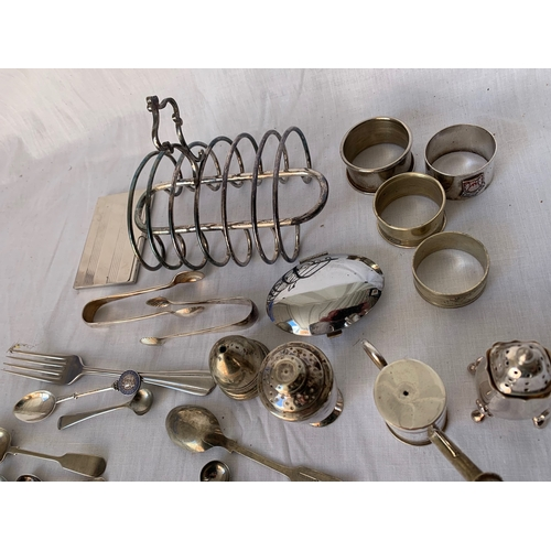 120 - Collection of plated table ware etc