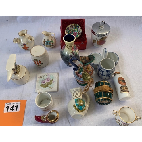 141 - Collection of small ceramics inc. Minitaures