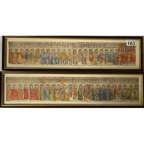163 - 2 Vintage papal procession prints