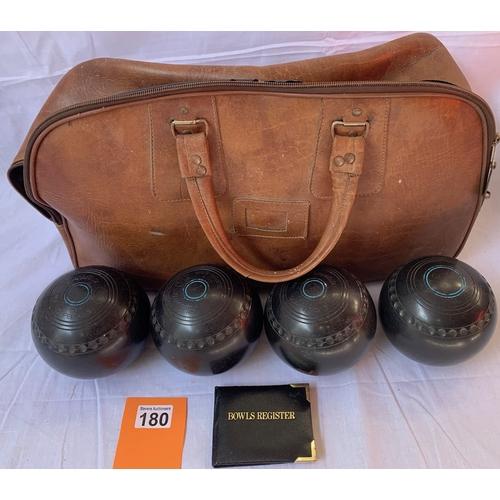 180 - Vintage Bowling Balls in bag