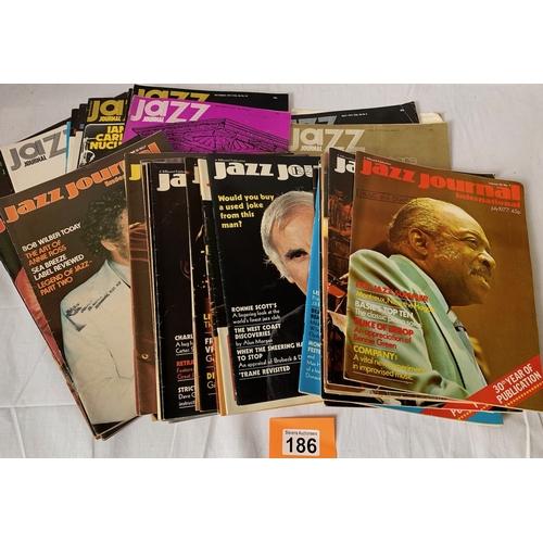 186 - Jazz Magazines - 1970s issues x 44