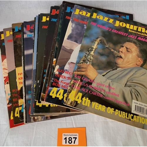 187 - Jazz Magazines - 1990s issues x 24