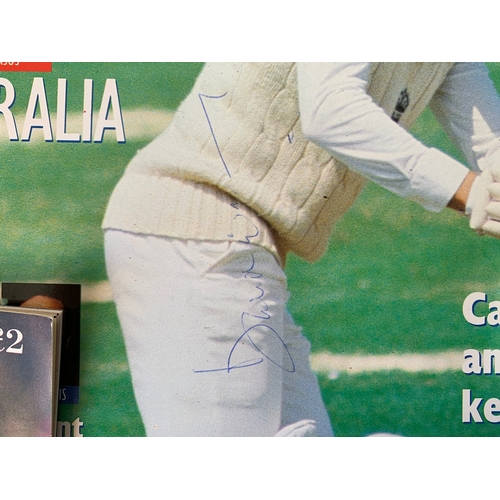 197 - Vintage Cricket memorabillia inc. Signed David Gower Magzine